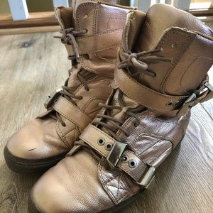 Jeffery Campbell Rose Gold High Top Size 7.5